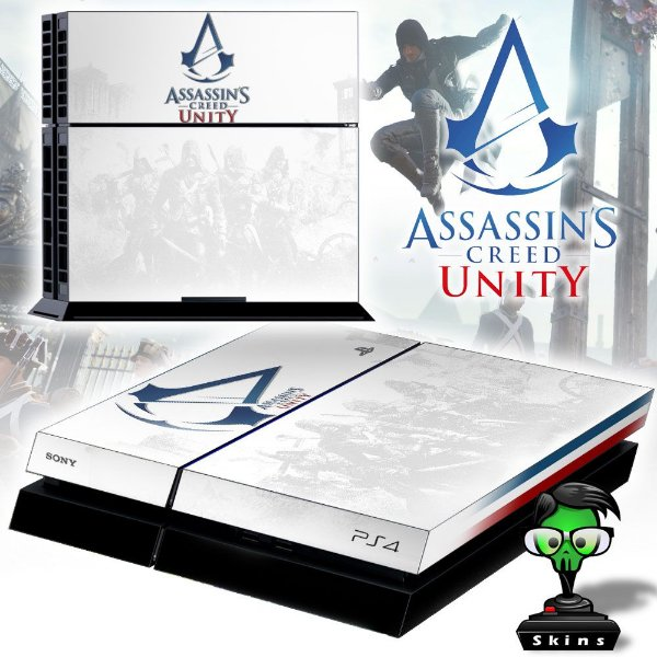 Adesivo para Console Ps4 Fat Assassins Creed Unity