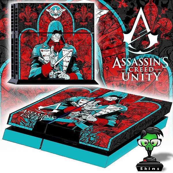 Adesivo para Console Ps4 Fat Assassins Creed Unity 4