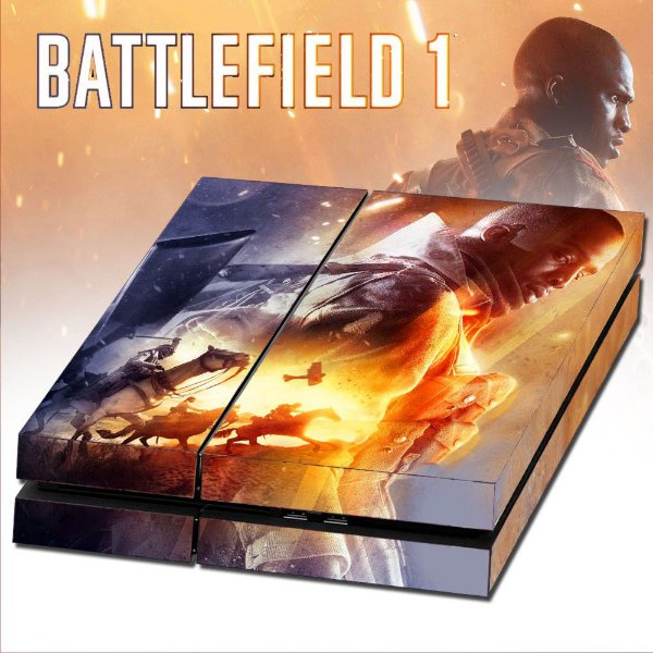 Adesivo para Console Ps4 Fat Battlefield 1