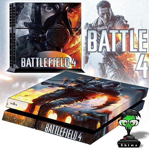 Adesivo para Console Ps4 Fat Battlefield 4