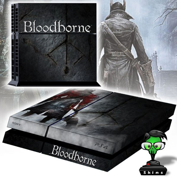 Adesivo para Console Ps4 Fat Bloodborne 2
