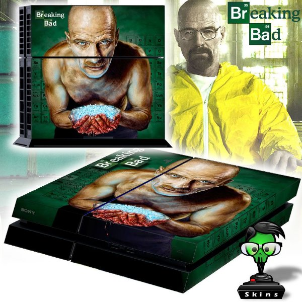 Adesivo para Console Ps4 Fat Breaking Bad 2