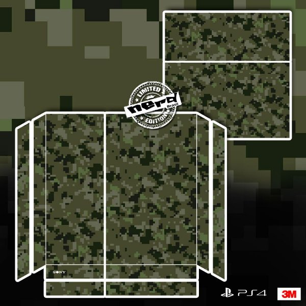 Adesivo para Console Ps4 Fat Camuflado Pixel Verde