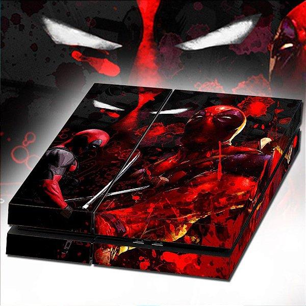 Adesivo para Console Ps4 Fat Deadpool 2