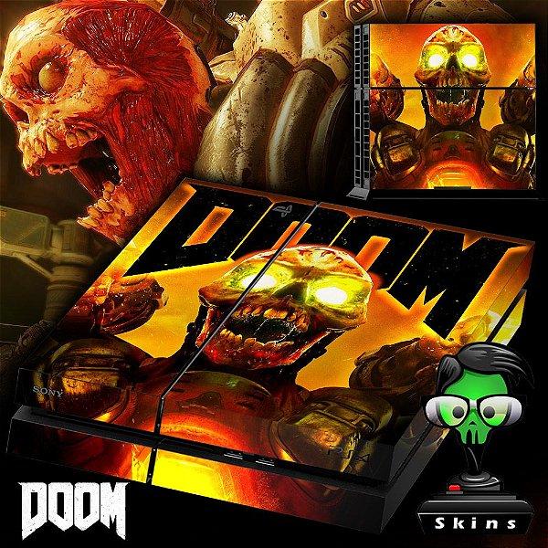 Adesivo para Console Ps4 Fat Doom 2