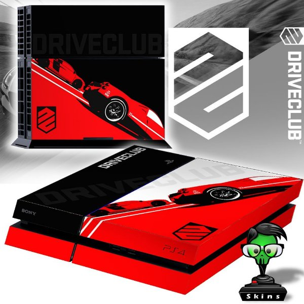 Adesivo para Console Ps4 Fat Driveclub Red