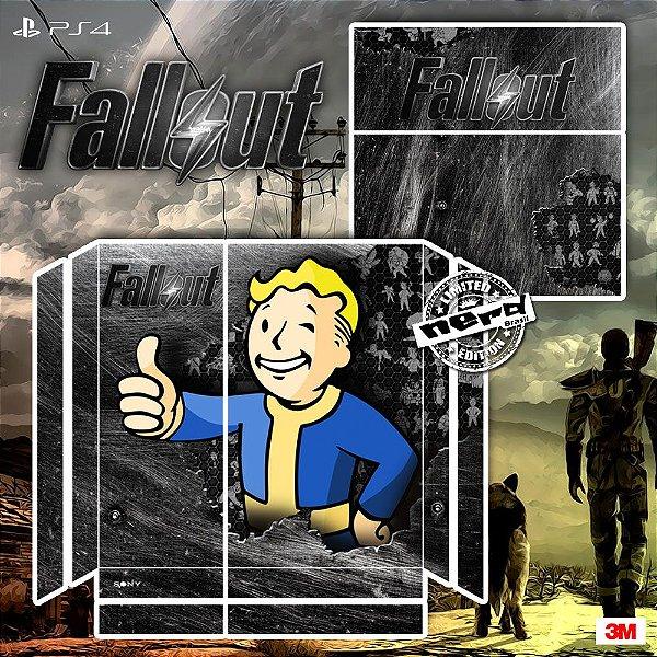 Adesivo para Console Ps4 Fat Fallout Pip Boy