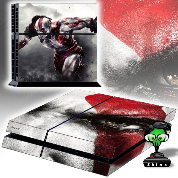Adesivo para Console Ps4 Fat God Of War Krato's Eyes