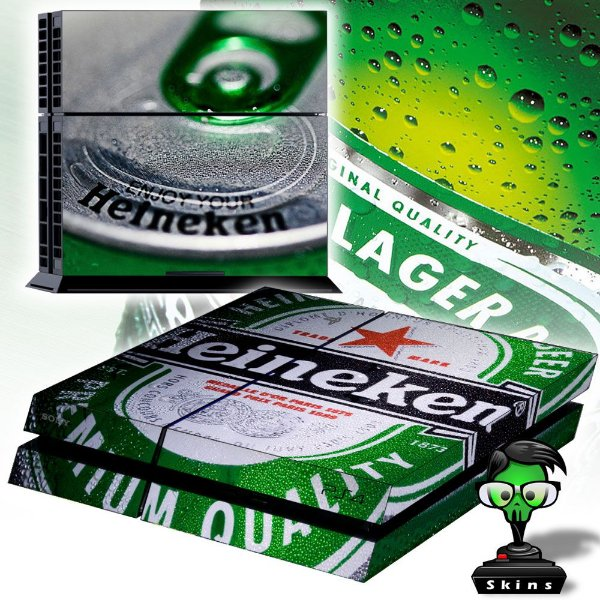 Adesivo para Console Ps4 Fat Heineken