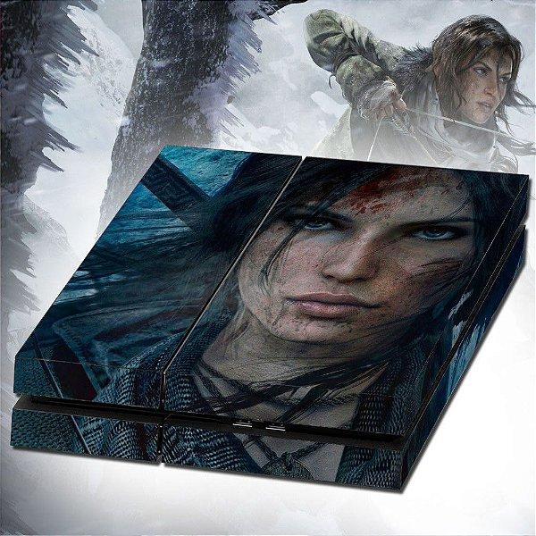 Adesivo para Console Ps4 Fat Tomb Raider Lara Croft