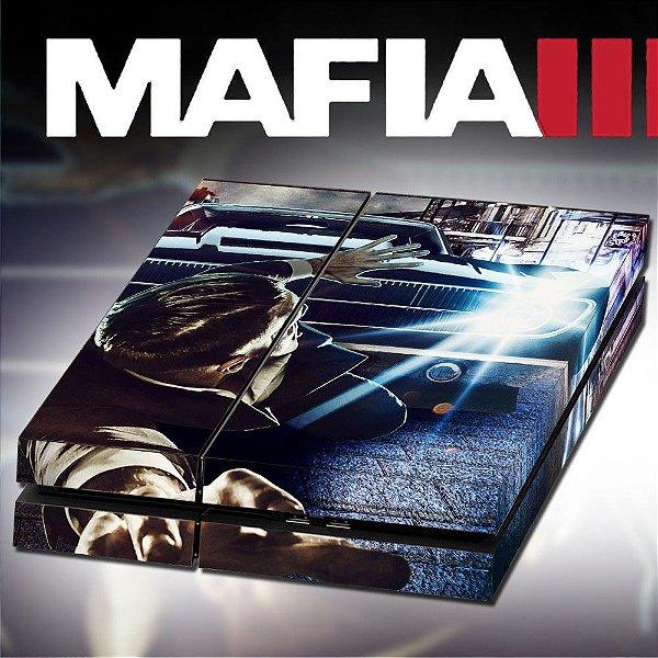 Adesivo para Console Ps4 Fat Mafia
