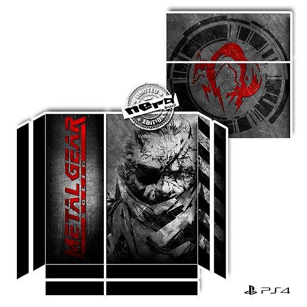 Adesivo para Console Ps4 Fat Metal Gear Snake