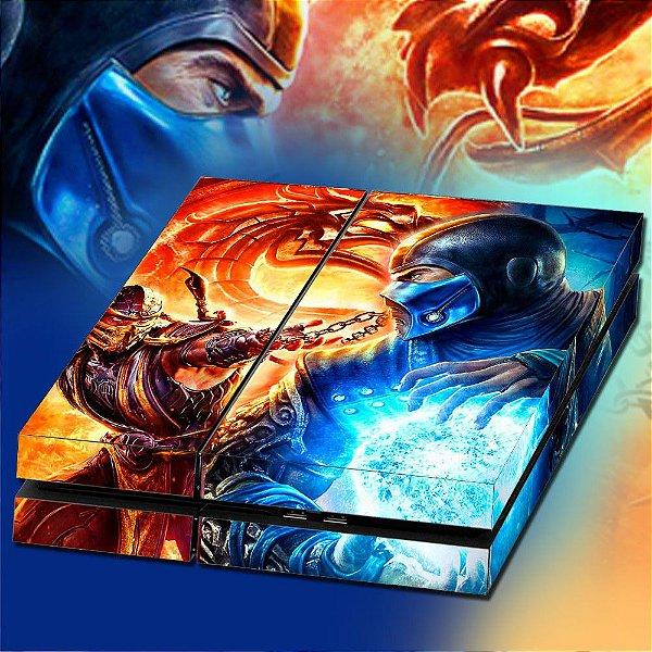 Adesivo para Console Ps4 Fat Mortal Kombat Classic
