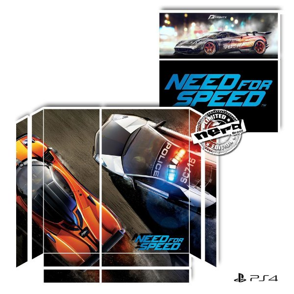 Adesivo para Console Ps4 Fat Need For Speed 2