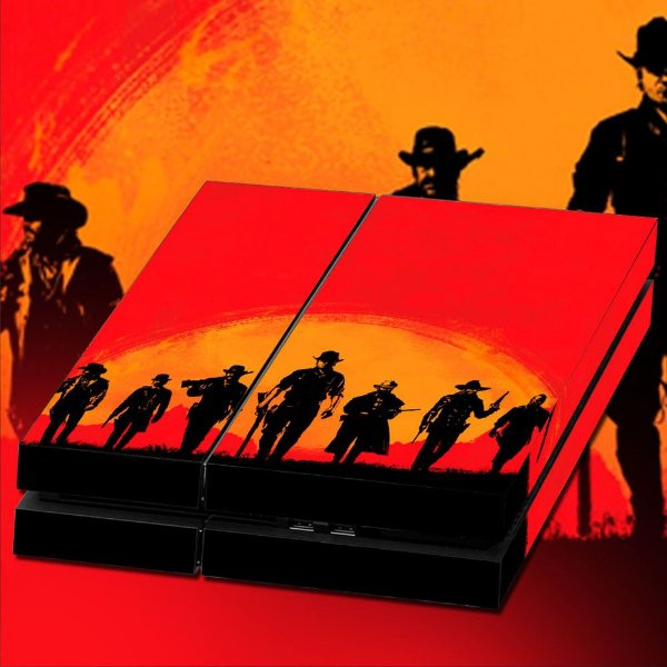 Adesivo para Console Ps4 Fat Red Dead Redempition Cover