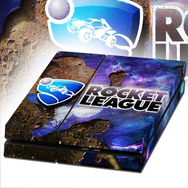 Adesivo para Console Ps4 Fat Rocket League