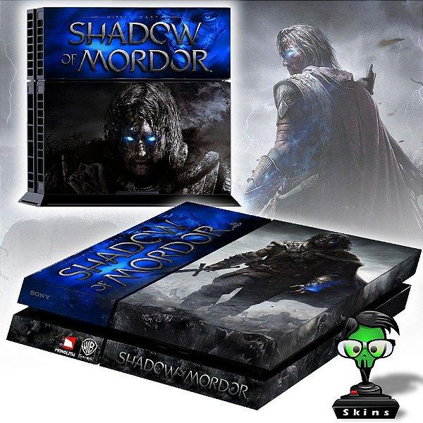 Adesivo para Console Ps4 Fat Shadow Of Mordor