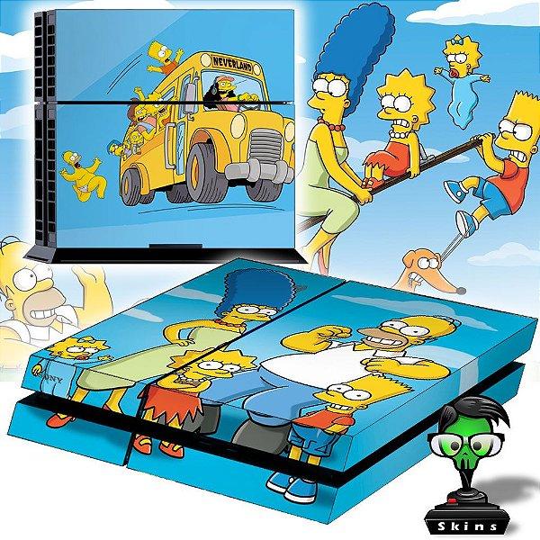 Adesivo para Console Ps4 Fat Simpsons