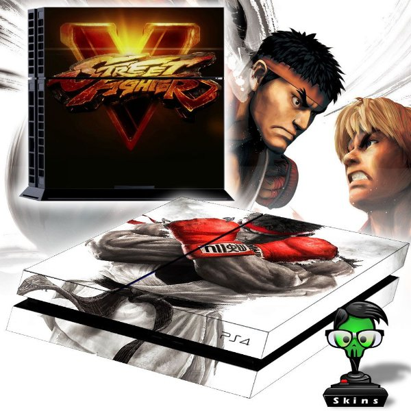 Adesivo para Console Ps4 Fat Street Fighter 5