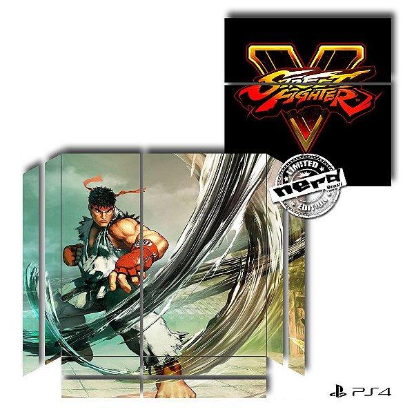 Adesivo para Console Ps4 Fat Street Fighter Ryu