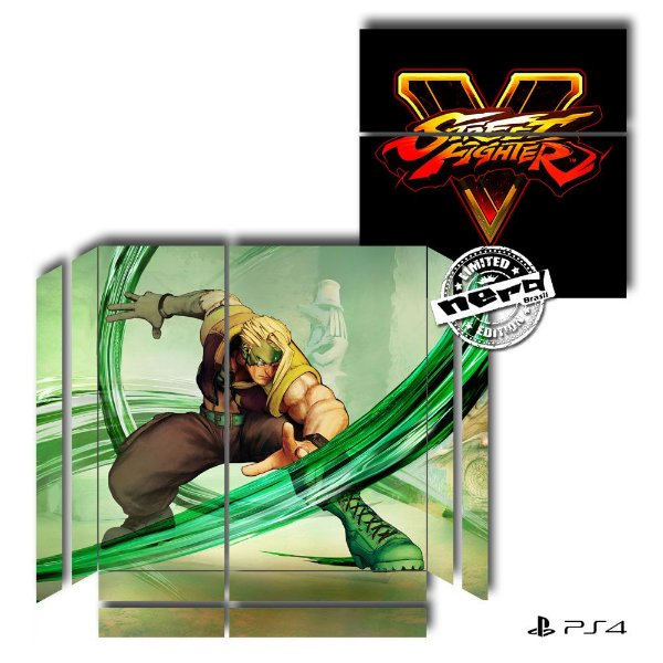 Adesivo para Console Ps4 Fat Street Fighter 3