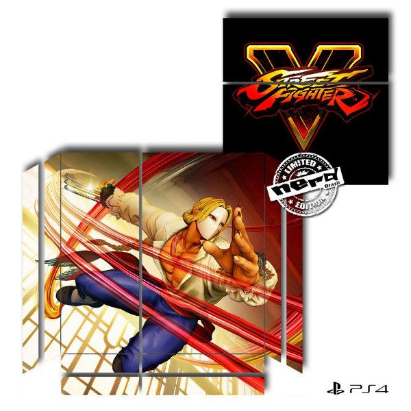 Adesivo para Console Ps4 Fat Street Fighter 6