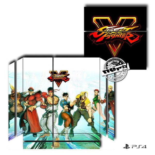 Adesivo para Console Ps4 Fat Street Fighter 7