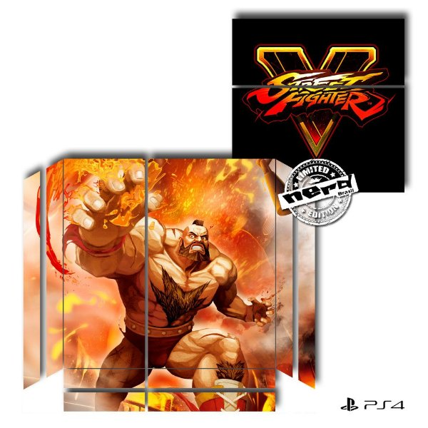 Adesivo para Console Ps4 Fat Street Fighter 9