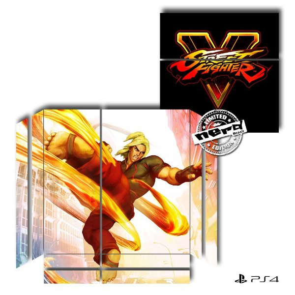 Adesivo para Console Ps4 Fat Street Fighter 11