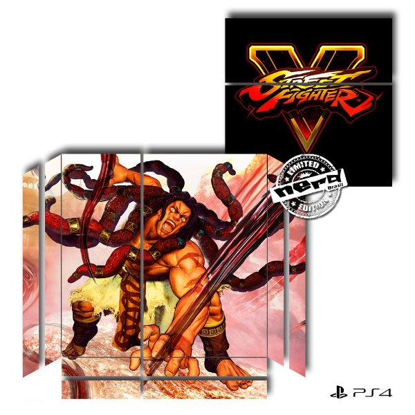 Adesivo para Console Ps4 Fat Street Fighter 12