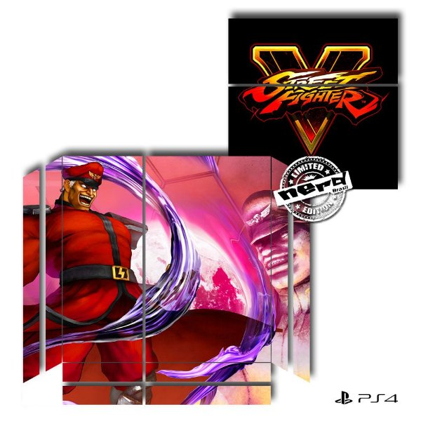 Adesivo para Console Ps4 Fat Street Fighter 15