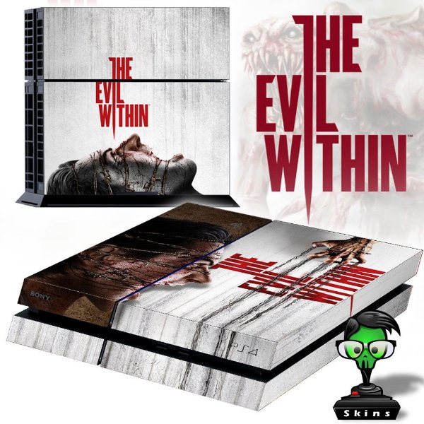 Adesivo para Console Ps4 Fat The Evil Within