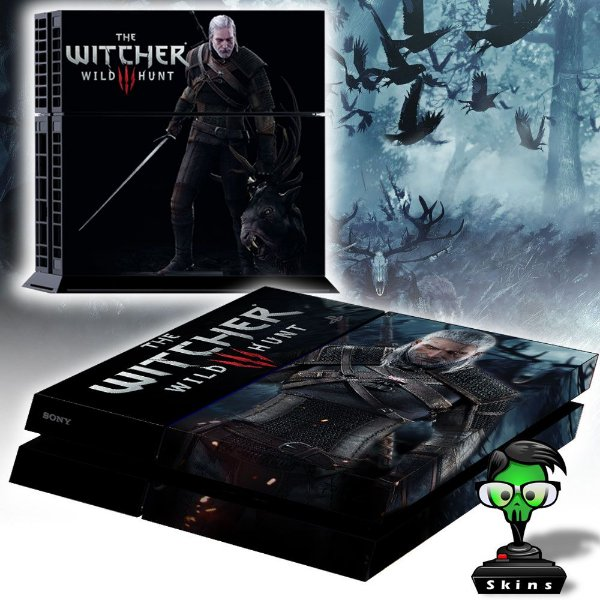 Adesivo para Console Ps4 Fat The Witcher