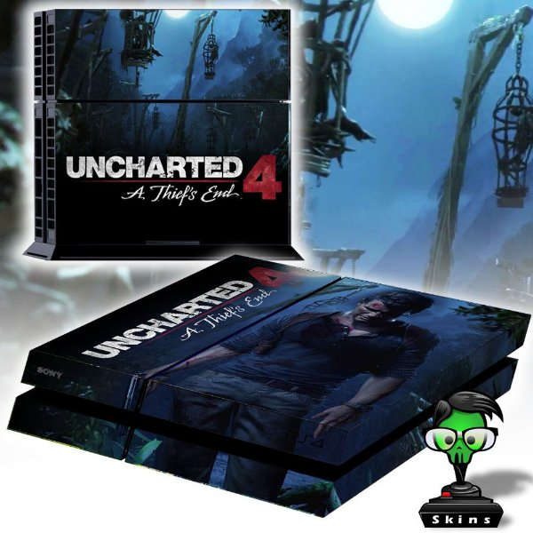 Adesivo para Console Ps4 Fat Uncharted 4