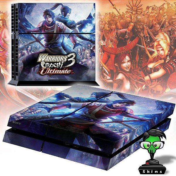Adesivo para Console Ps4 Fat Warriors Orochi 3