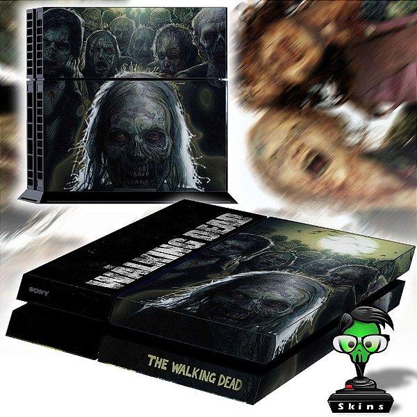 Adesivo para Console Ps4 Fat The Walking Dead