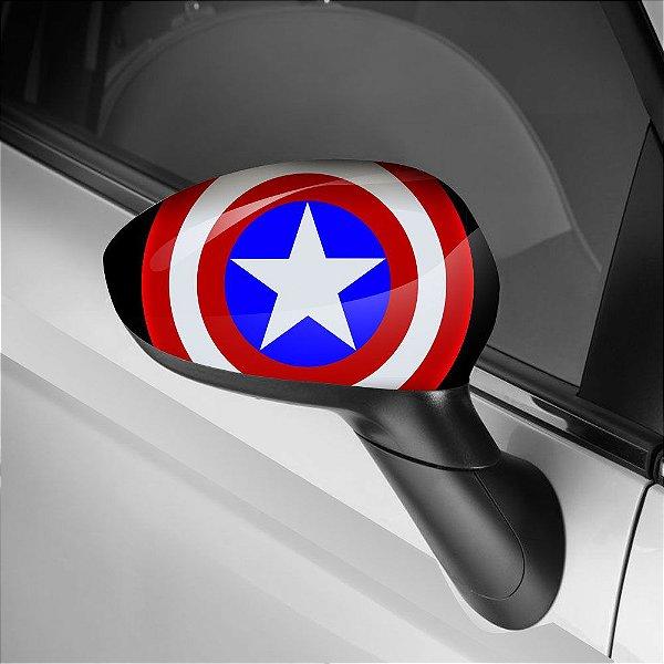 Adesivo para Envelopamento de Retrovisor Capitão América