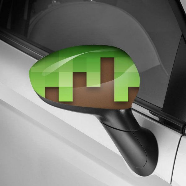 Adesivo para Envelopamento de Retrovisor Minecraft