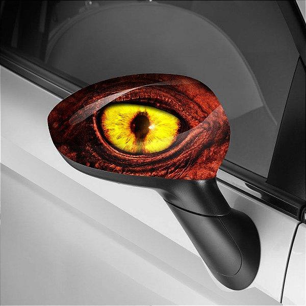 Adesivo para Envelopamento de Retrovisor Dragon Eye Red