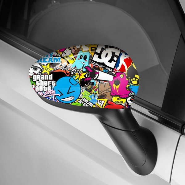 Adesivo para Envelopamento de Retrovisor Sticker Bombs