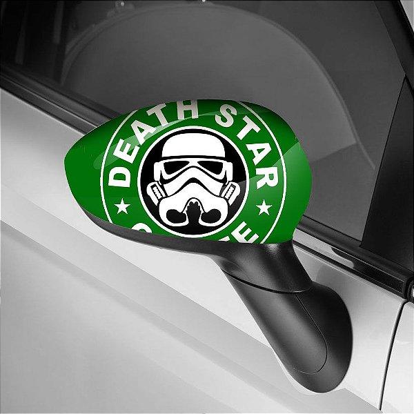 Adesivo para Envelopamento de Retrovisor Death Star Cofee