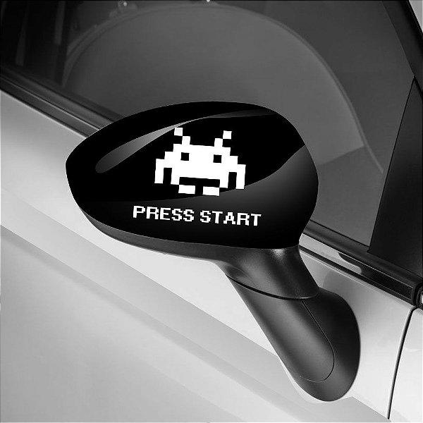 Adesivo para Envelopamento de Retrovisor Press Start