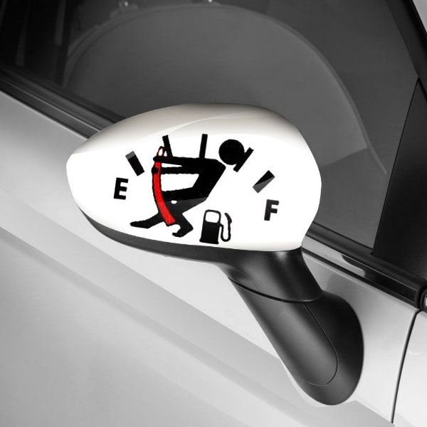 Adesivo para Envelopamento de Retrovisor Segura a Gasolina