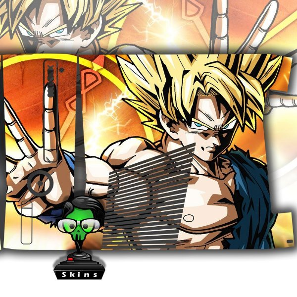 Skin Console XBOX 360 Slim DragonBall Z mod 01