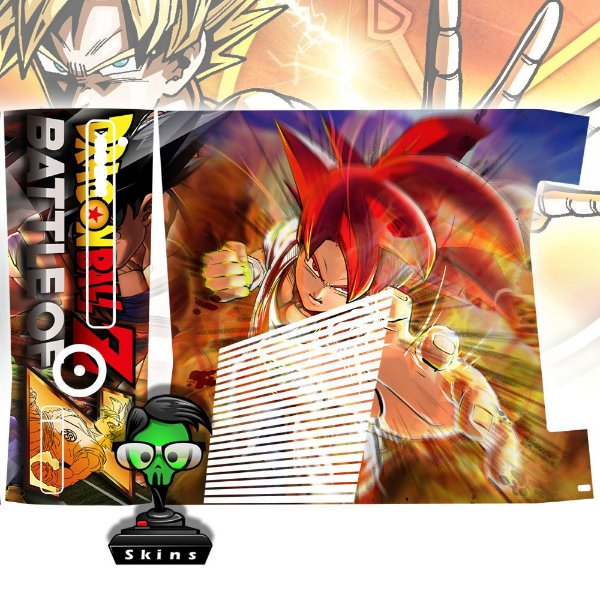 Skin Console XBOX 360 Slim DragonBall Z mod 02