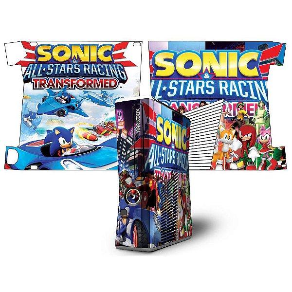 Skin Console XBOX 360 Slim Sonic