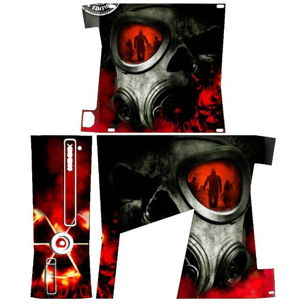 Skin Console XBOX 360 Slim Nuclear Red