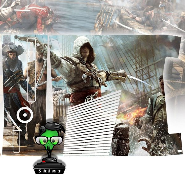 Skin Console XBOX 360 Slim Assassins Creed