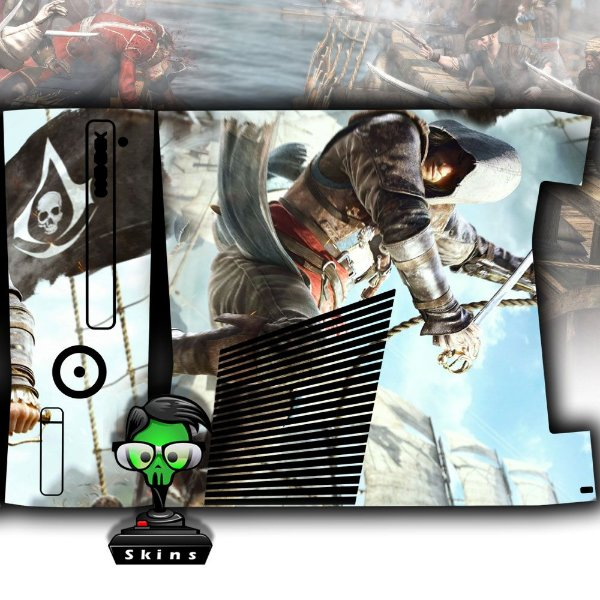 Skin Console XBOX 360 Slim Assassins Creed 2