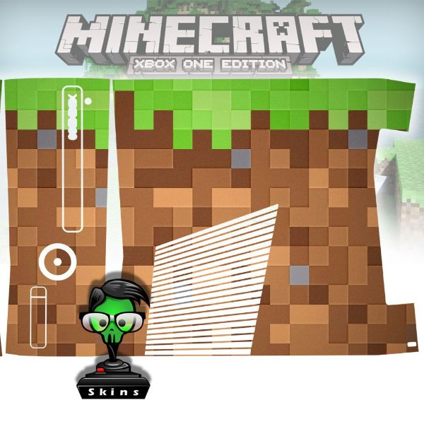 Skin Console XBOX 360 Slim Minecraft